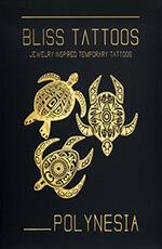 BlissTattoos - coffret Polynesia - tatouages éphémères