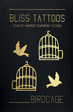 BlissTattoos - Birdcage set - temporary tattoos